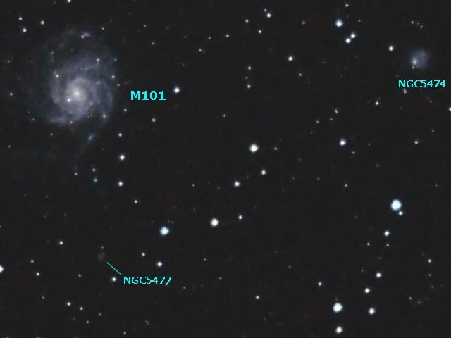 M101と周辺の銀河