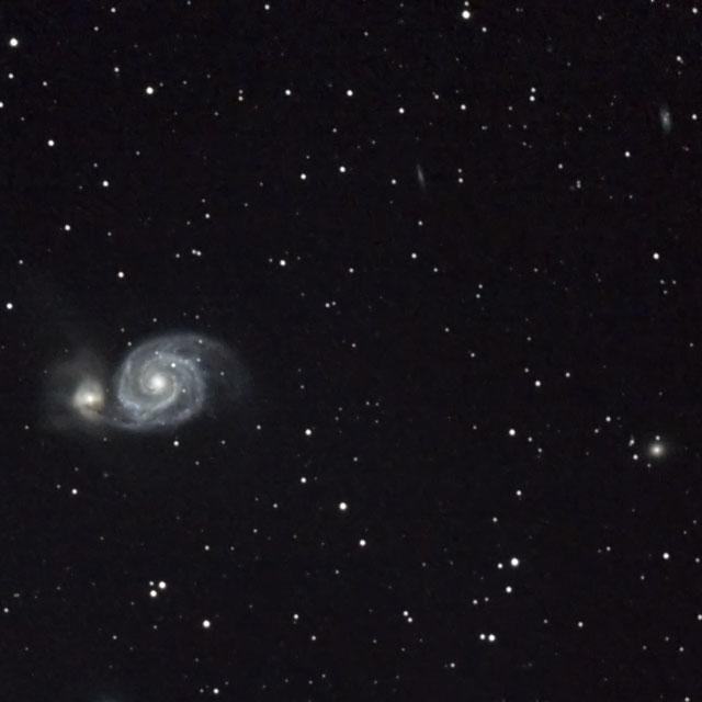 M51と周辺の銀河(FLT98)
