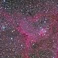 IC1805(ハート星雲)の一部分