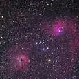IC405(勾玉星雲)&IC410