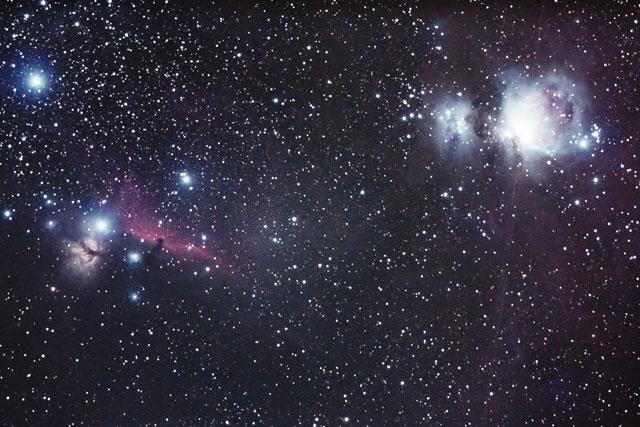 M42、馬頭星雲、燃える木