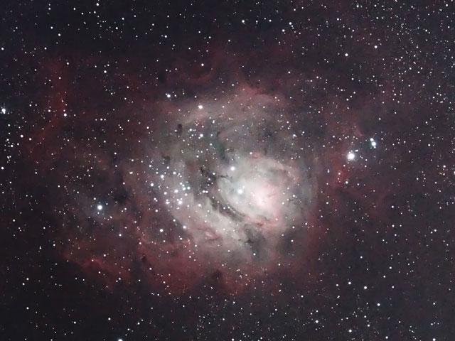M8(干潟星雲)中心部・光害地