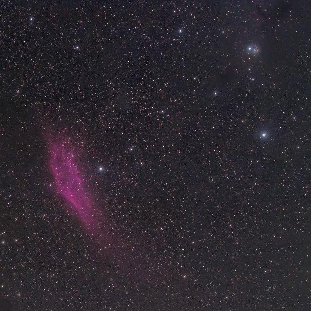 カリフォルニア星雲付近